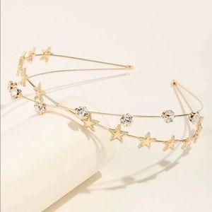 New Cute Rhinestone Star Decor Headband